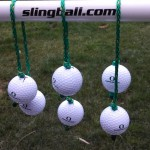 Duck Slingballs with green and yellow rope